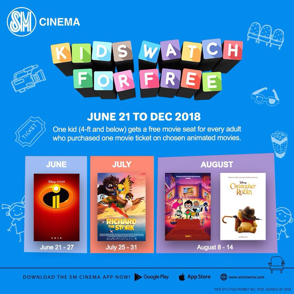 2018 Bank Holidays In Hk: SM Cinema Treats Kids To The Movies For Free!