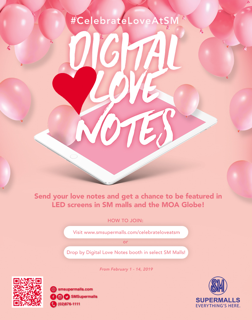 CelebrateLoveAtSM with Digital Love Notes | SM Supermalls