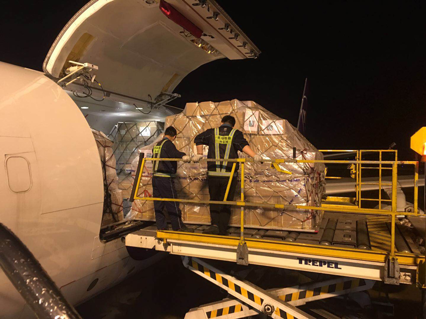PPEs-and-medical-equipment-arrive-for-SM-Foundation-on-chartered-aircraft-via-Airspeed-Logistics