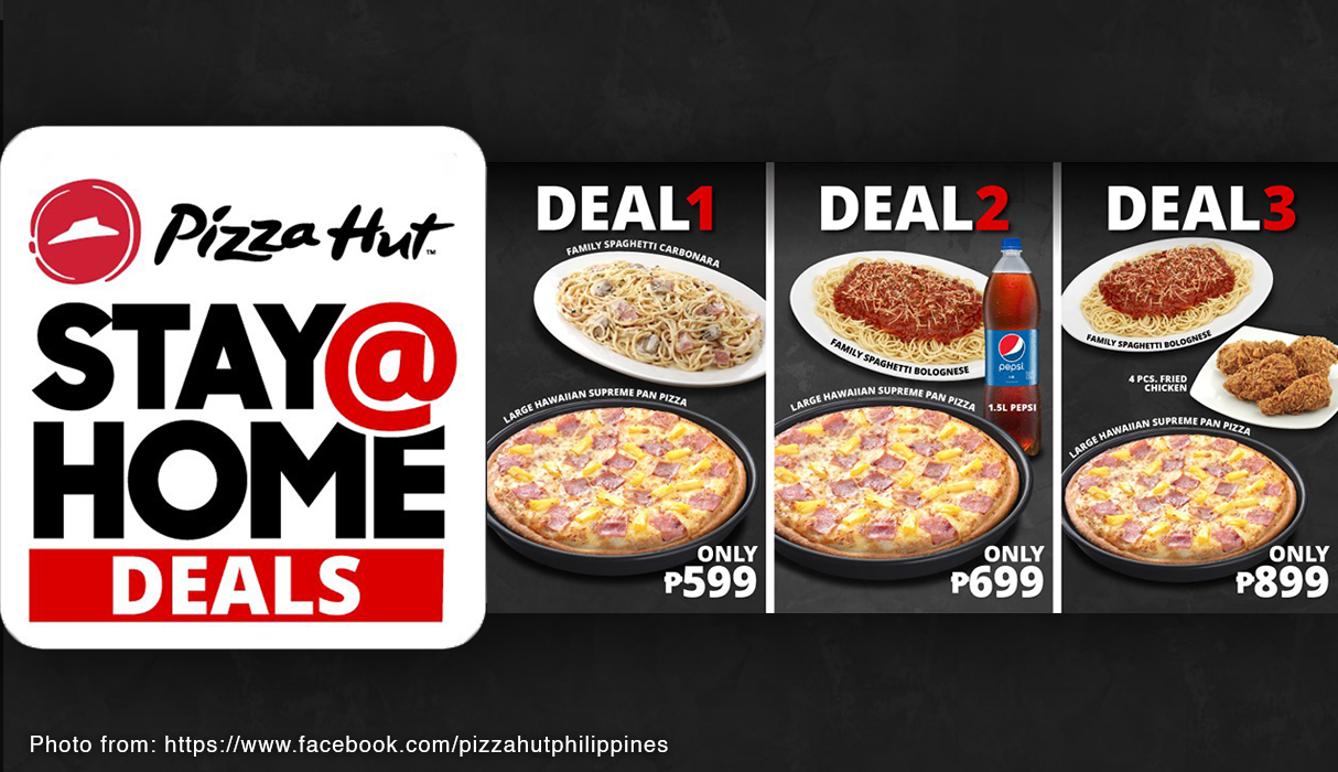 Close 2. Pizza Treats From Pizza Hut Turn your Mother's Day celebration  into an exciting pizza party and make things easy, fun, and light for the  family! Pizza Hut at SM Supermalls not only offers worry-free deliveries  and carry-outs, but also stay-at-home ...