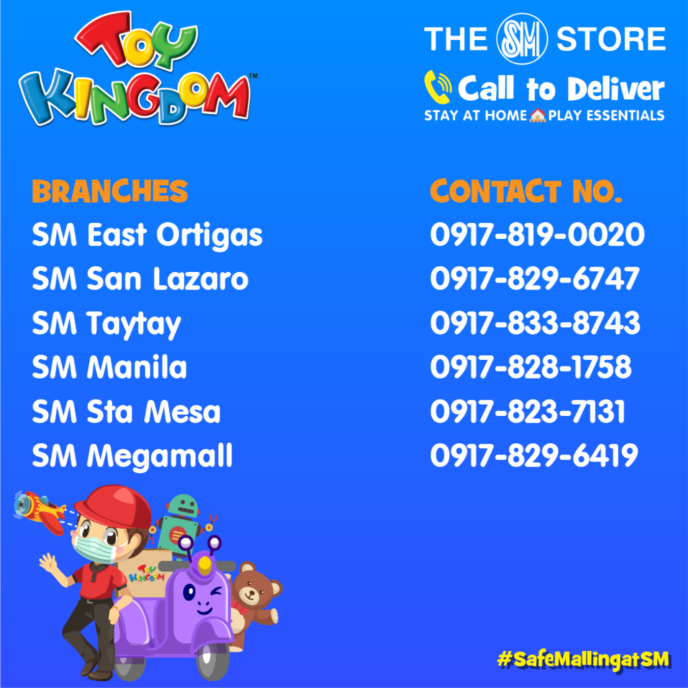 Toy Kingdom Call to Deliver