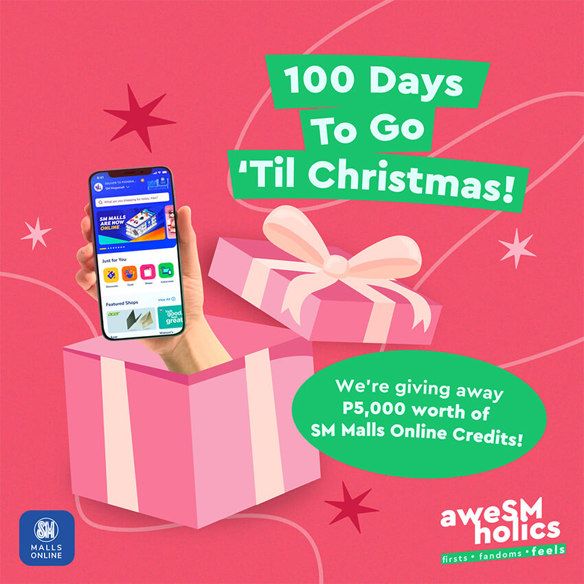 100 Days to Go until Christmas, SM Malls Online Credits Giveaway