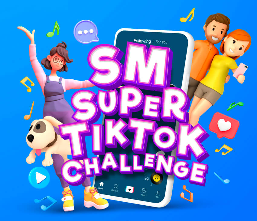 Join the SM Super TitTok Challenge and get a chance to win P100,000 shopping money