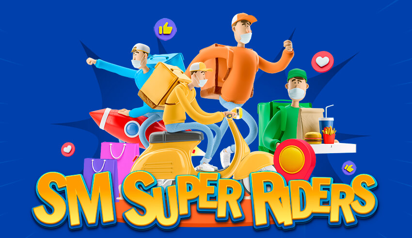 Upload a selfie with your super delivery rider and get a chance to win a Suzuki Skydrive Sport Motorcycle for your rider and P10,000 SM shopping money for yourself with SM Super Riders